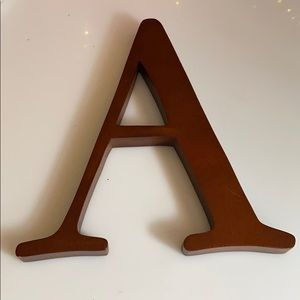 Wooden A initial